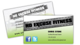 We design and print business cards for personal trainers!