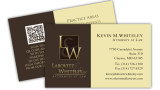 Attorney business card including QR Code