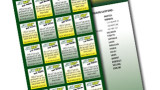 Subway Custom 32 Coupon Ticket Fundraising Promotional Merchant Tickets - Accordion Fold - Full Color