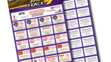 44 Merchant Coupon Fundraiser Pizza Cards - Accordion fold - Perforated Tickets