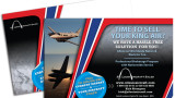 Sell Your King Air postcards for direct mail